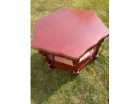 Hexagonal Mahogany Coffee Table/Side Table
