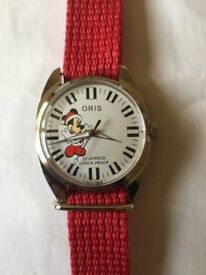 Vintage ORIS gents Mickey Mouse wind up watch