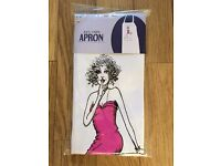 """Amusing Apron, brand new in bag. says """" some women never admit their age, how many men act theirs?"""""""