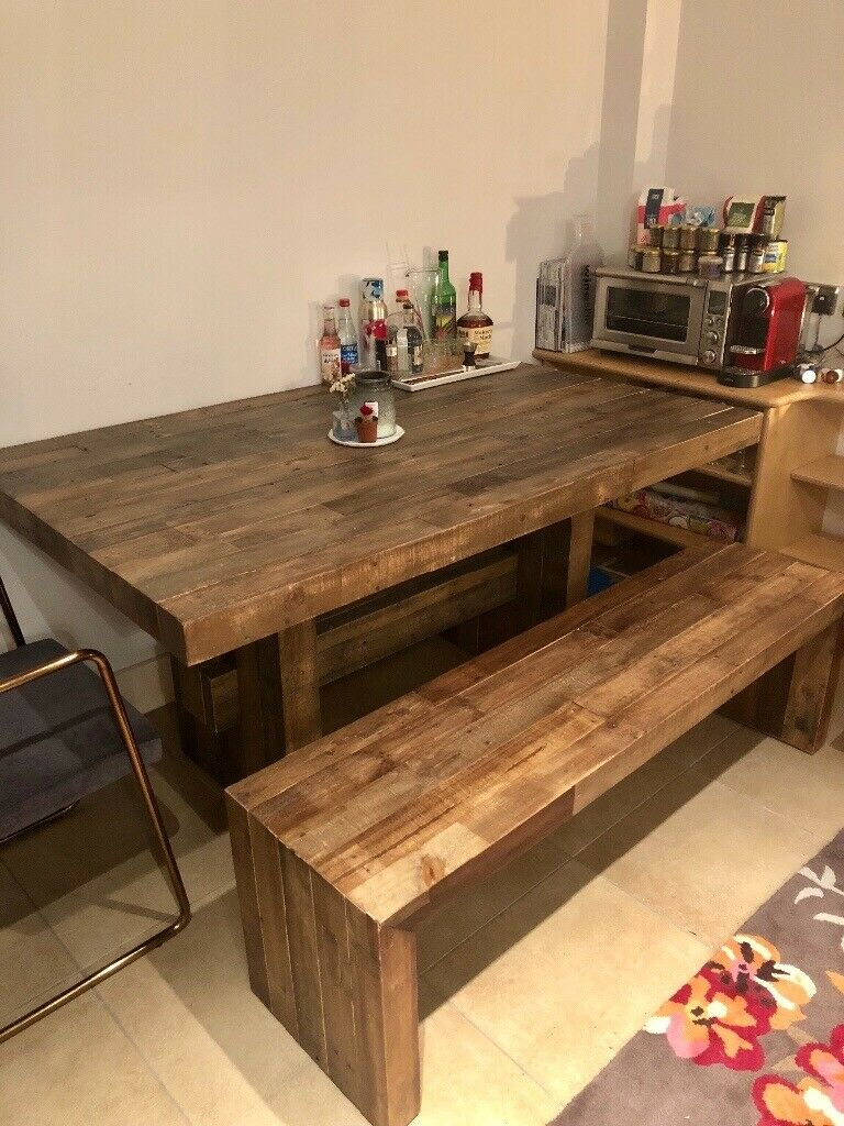 West Elm Emmerson Reclaimed Wood Dining Table And Bench In Notting Hill London Gumtree