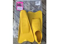 Short Swimming Fins - Slazenger, yellow, size 3-5