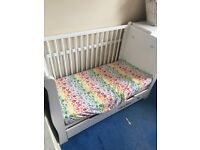 Sleigh Cot Bed White