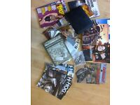 HUGE LOT OF HARLEY HOG ITEMS INC HOG TALES MAGAZINES/ LAPEL PIN / CLOTH PATCH & MISC OTHERS