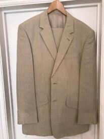 Men's Cream Linen Suit