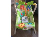 Fisher price bouncy chair , baby gym, cot canopy , mobile , changing bags