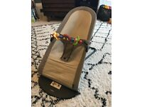 Baby bjorn baby bouncer chair with wooden toy bar
