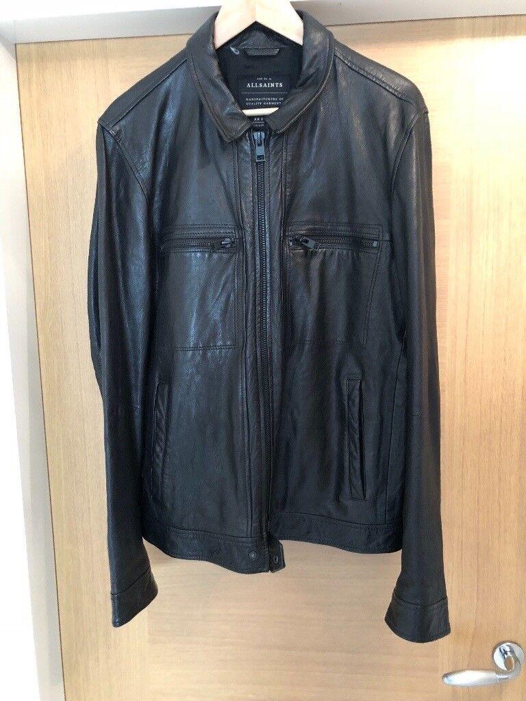 Mens all saints lark leather jacket  3eef3b5d1