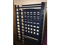 nice looks like new baby cot navy blue