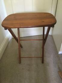 Small Antique Pine Folding Table H25in/64cm W22in/56cm D16in/41cm