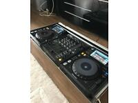 XDJ 1000 DJM700 + HDJ500 + KRK ROKIT 8 + FLIGHTCASE