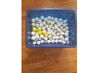 Mixed full set of golf clubs, bag and box of balls
