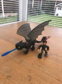 Toothless and Hiccup from Dragons