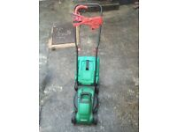 Qualcast lawnmover and Black&Decker trimmer