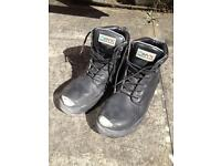 ONYX Black Leather Safety Boots (ONX 699)