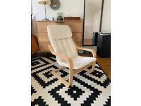 IKEA Children's armchair, birch veneer/ light beige