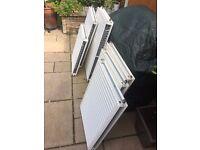 Double White Radiators various sizes