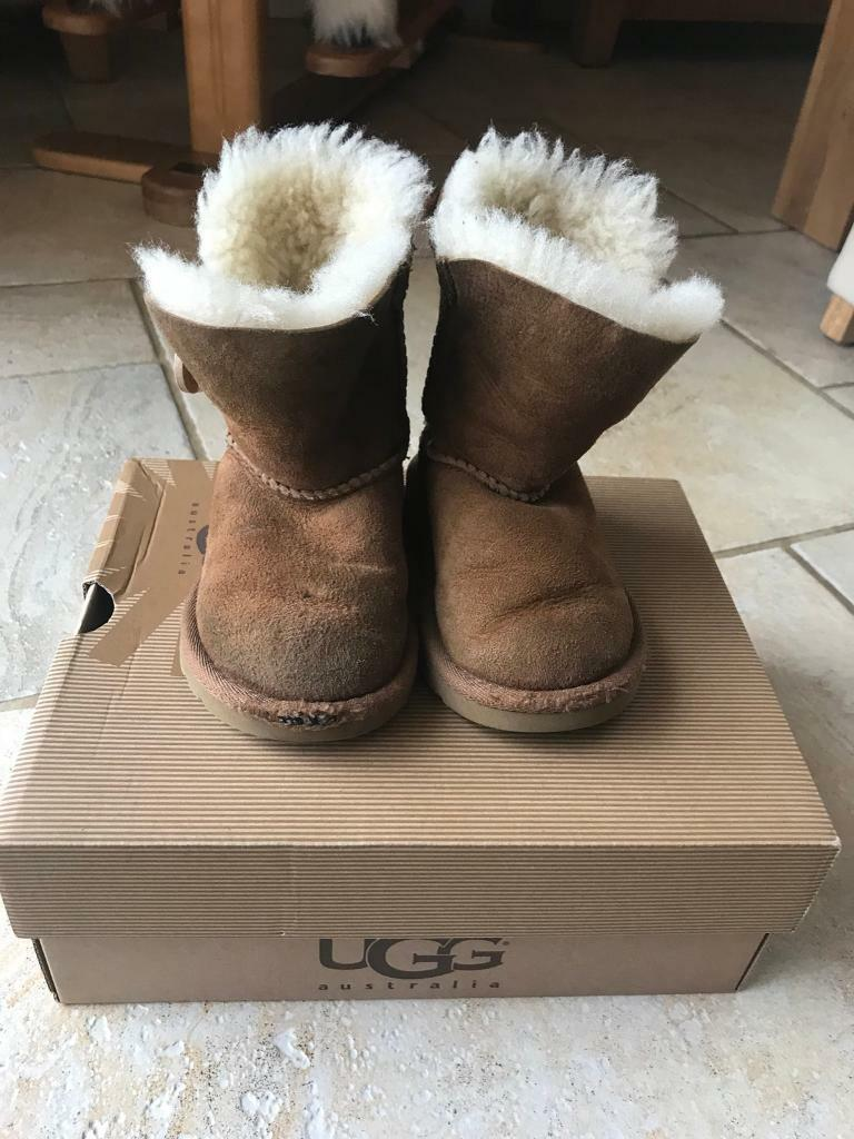 Genuine infant UGG boots, UK size 5, used.