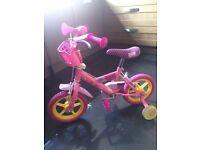 Peppa Pig 12inch bike with stabilisers