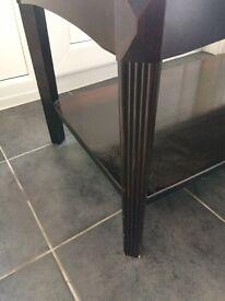 Dark wood coffee table for sale