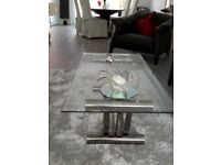 Glass occasional tables x 3