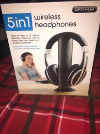 5 in 1 Wireless Headphones brand new still in the box