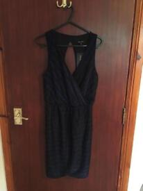 Black and blue dress new look size 10 *new*