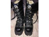 Genuine Ladies New Rock Boots. Size 4