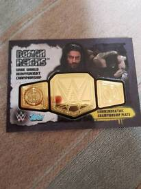 Slam attax RARE champion plate