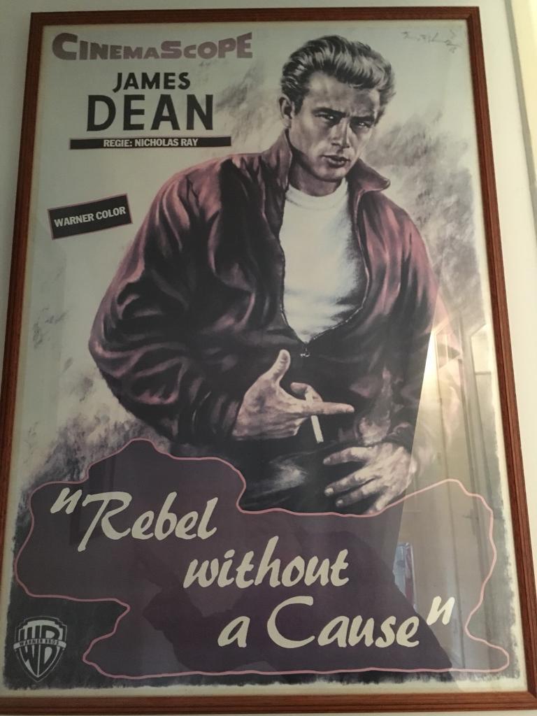 Plastic Framed James Dean Poster