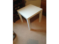 FREE white wooden side table/coffee table/bedside table