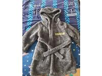 Boys very soft/fluffy dressing gown age 4/5