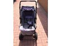 Baby push chair with car seat