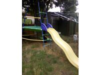 Climbing frame and slide needs a clean and two screws for slide