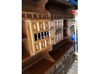 Solid Oak dresser/unit