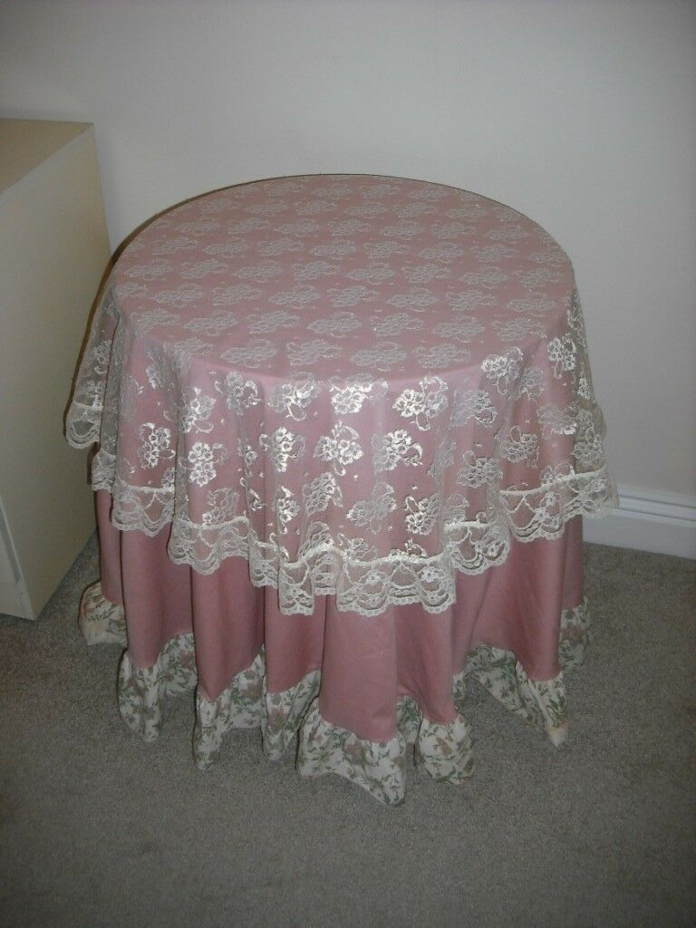 Small Round Table Cloths.Small Round Table With Table Cloth Lovely In Bedroom In Luton Bedfordshire Gumtree