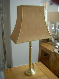 Table Lamp with Brass Coloured Base