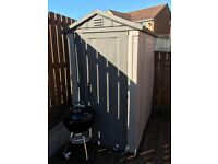 Plastic shed 6x4 fair condition