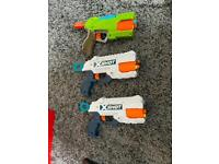 Nerf guns x 3