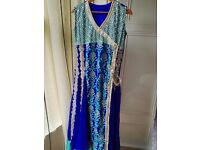 Indian Pakistani Designer New Dress with Tilla embroidery Perl & Sitara work Wedding Maxi krincal