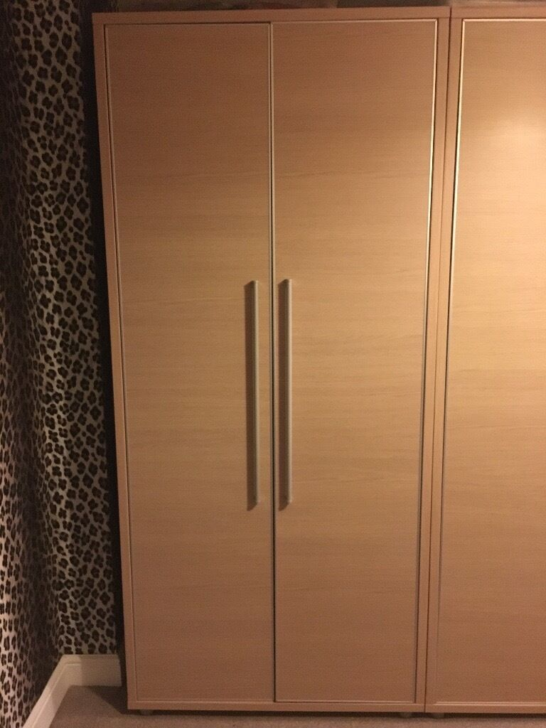 2 Double Door Wardrobes immaculate condition £50 .