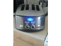 BREVILLE 4 SLICE TOASTER LIGHTS UP ELEVATES/LIFTS TOAST UP AND DOWN NOT POP OUT