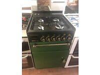 55CM GREEN RANGEMASTER GAS COOKER
