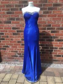 Offers welcome! Royal Blue Diamonte Ball/Prom Dress 💙