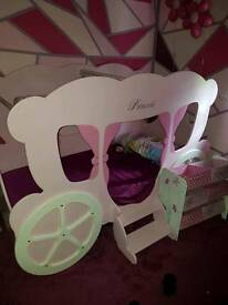 Princess carriage single bed one off
