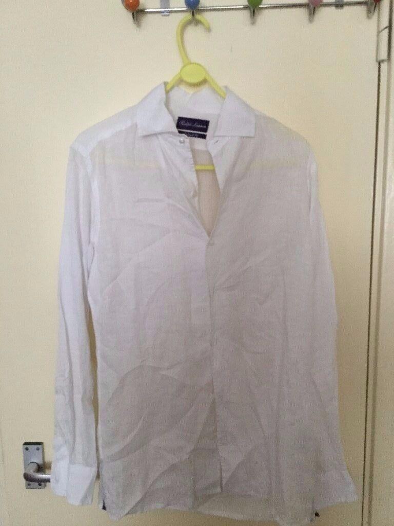 Brand new raulph lauren white shirt 100% linen