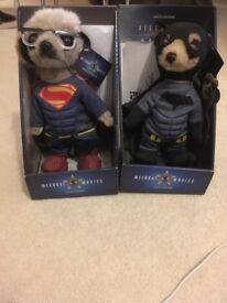 Batman & Superman meerkat limited edition toys