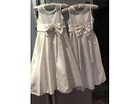 2 ivory bridesmaid/flower girl dresses