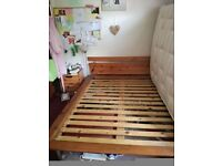 DOUBLE WOODEN BED FRAME - minor repair needed