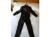 Ladies motor cycle leather jacket and trousers size 14
