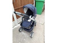 Graco pushchair and carry cot with rain cover